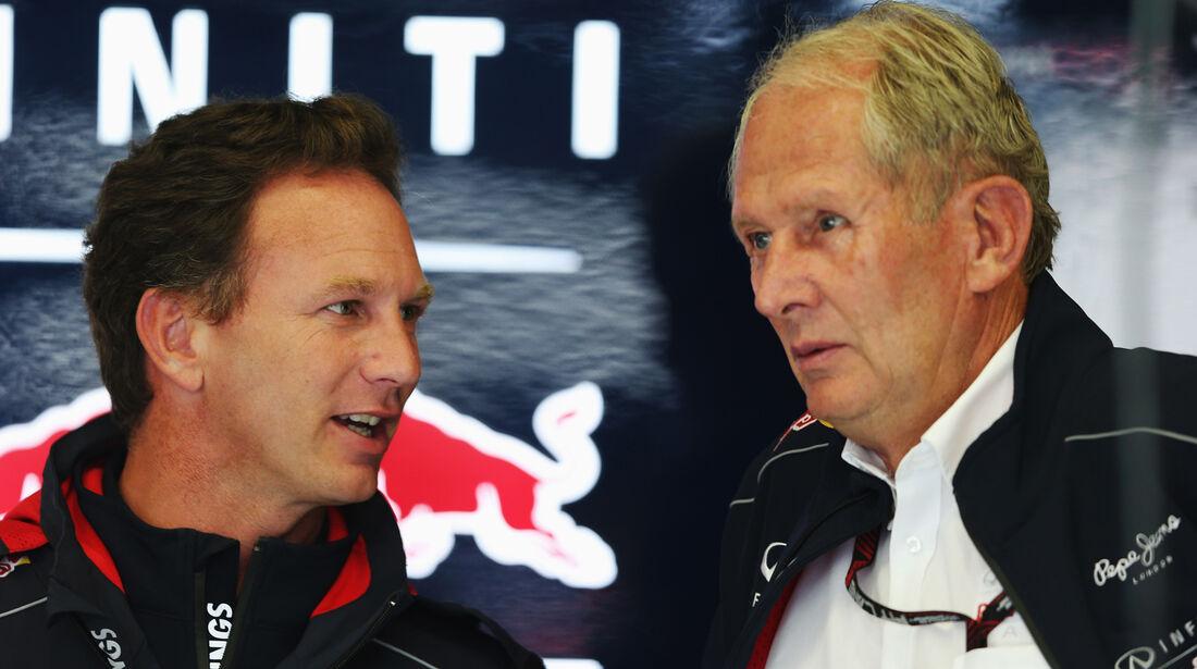 Christian Horner & Helmut Marko - Red Bull - Formel 1 - GP Belgien - Spa Francorchamps - 23. August 2013
