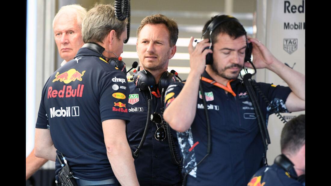 Christian Horner - Helmut Marko - Red Bull - GP Aserbaidschan 2017 - Qualifying - Baku - Samstag - 24.6.2017
