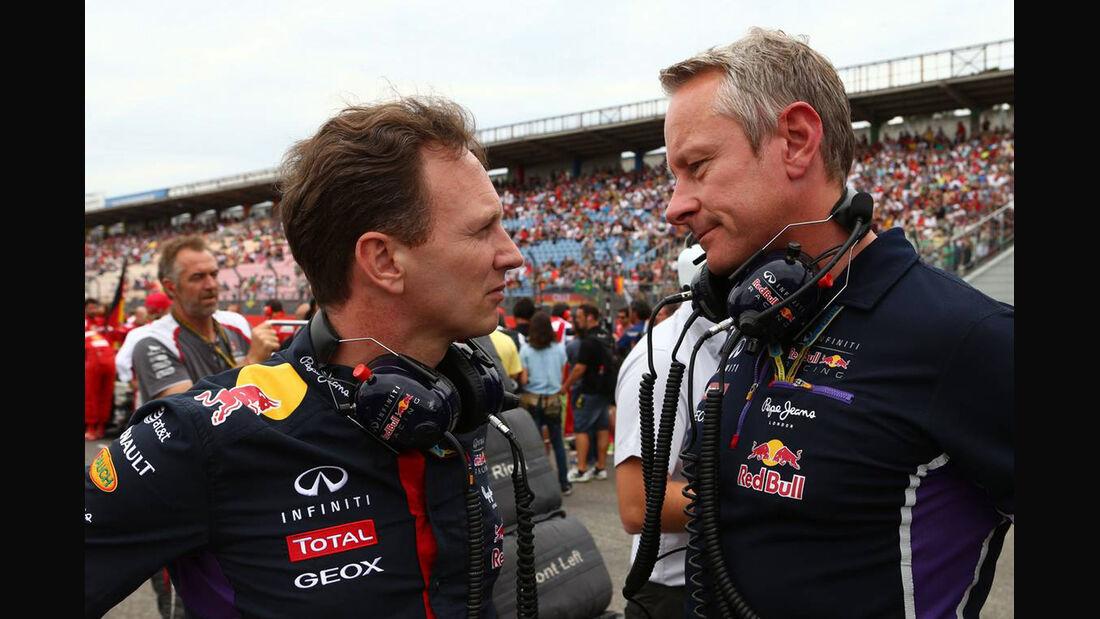 Christian Horner Jonathan Wheatley Red Bull 2014