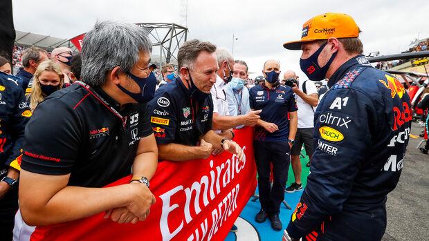 Christian Horner - Max Verstappen - Red Bull - GP Frankreich 2021 - Paul Ricard
