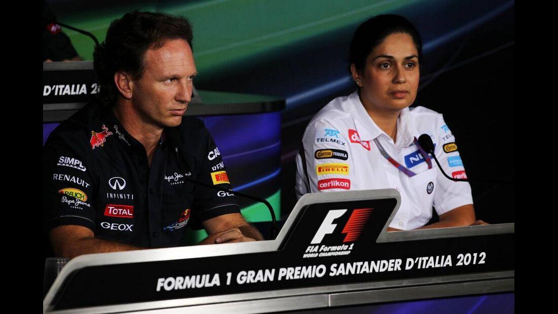 Christian Horner Monisha Kaltenborn - Formel 1 - GP Italien - 07. September 2012