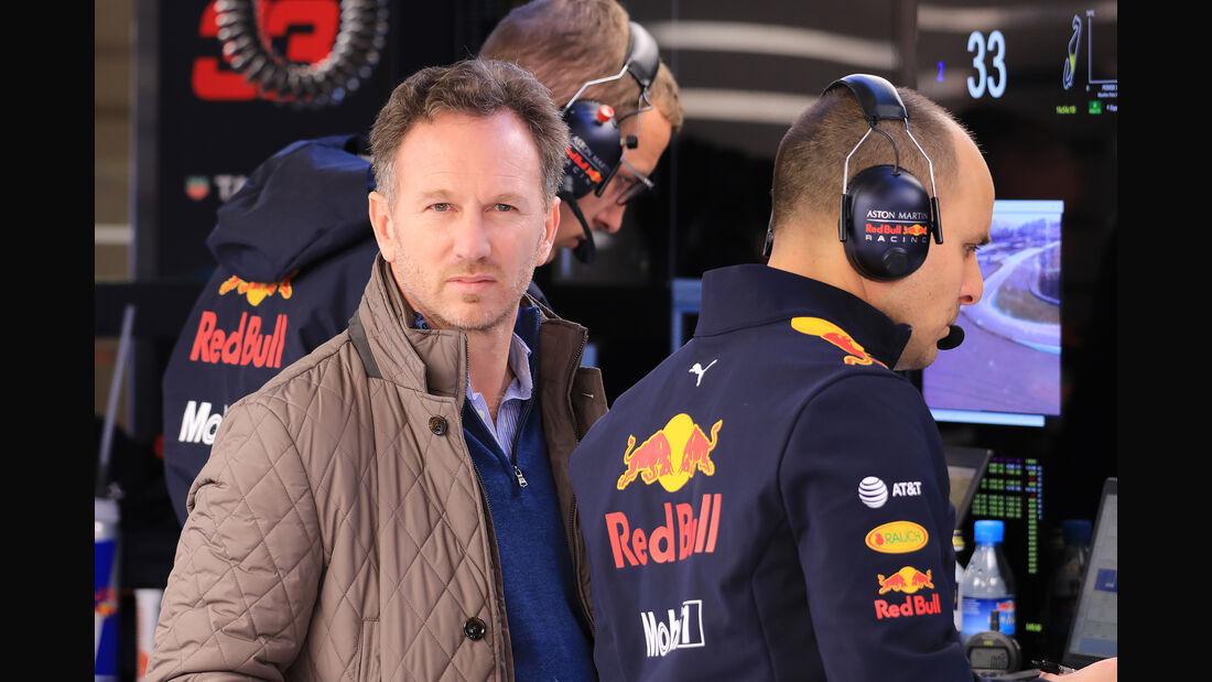 Christian Horner - Red Bull - Barcelona - F1-Test - 18. Februar 2019