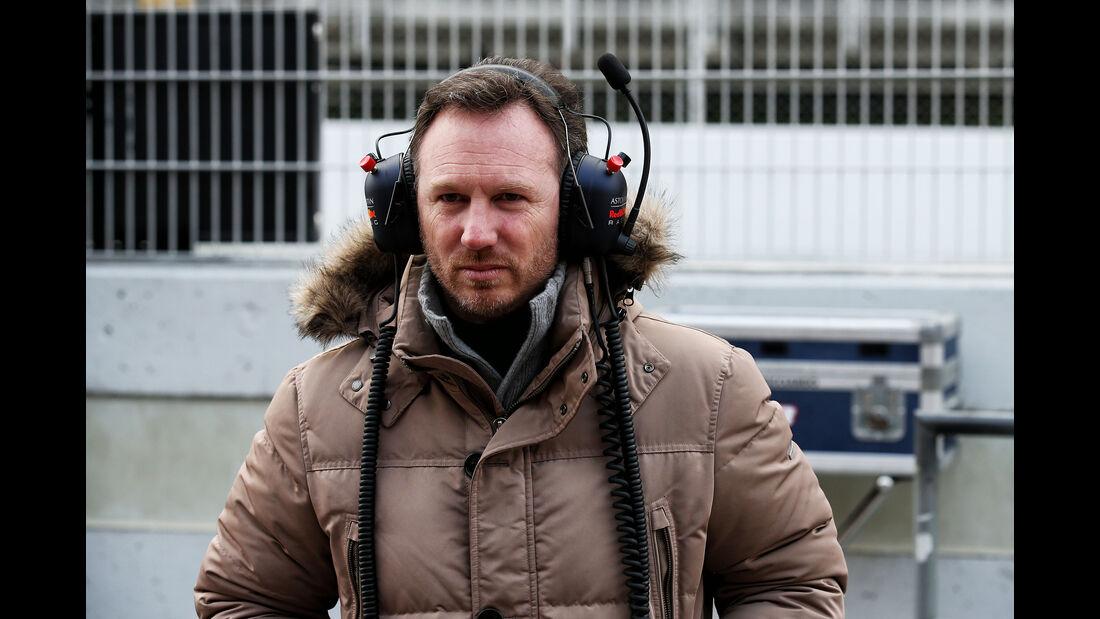 Christian Horner - Red Bull - F1-Test - Barcelona - Tag 2 - 27. Februar 2018