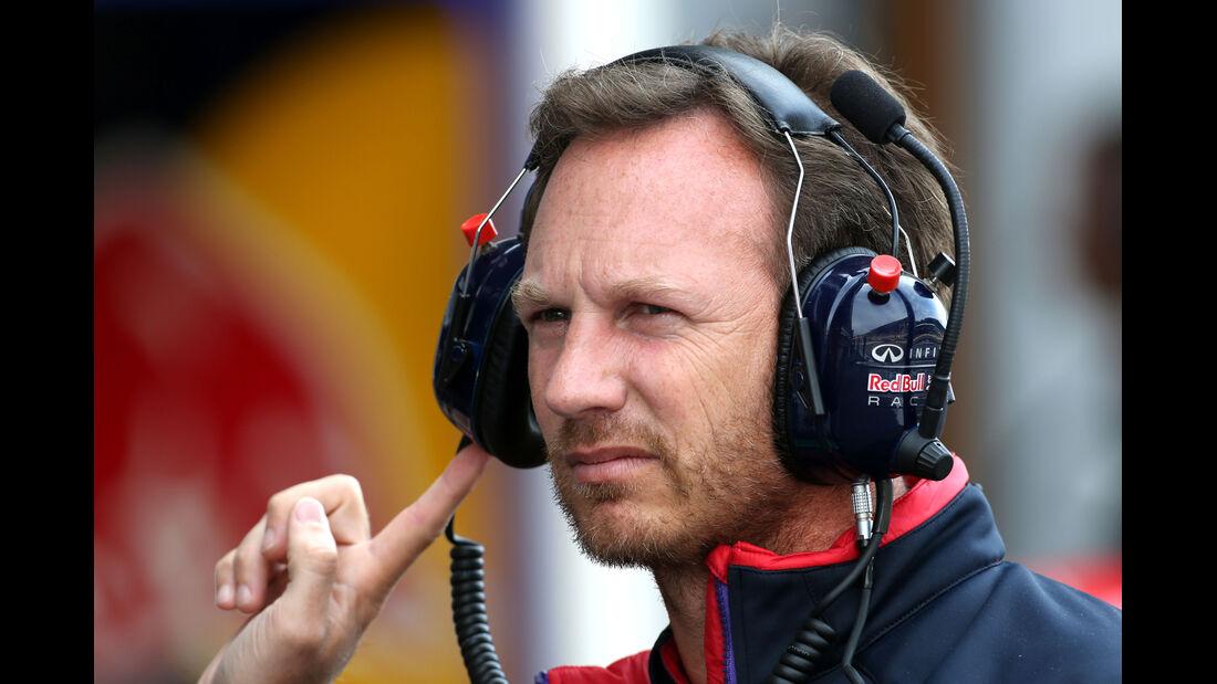 Christian Horner - Red Bull - Formel 1 - GP Belgien - Spa-Francorchamps - 22. August 2014
