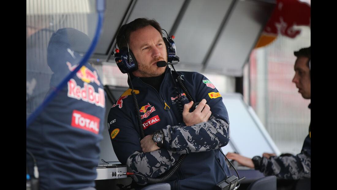Christian Horner - Red Bull - Formel 1 - Test - Barcelona - 2. März 2016