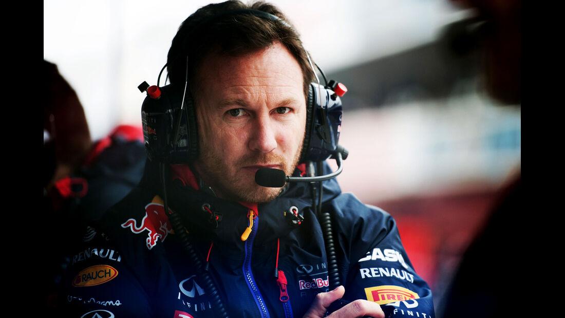Christian Horner - Red Bull - Formel 1-Test - Barcelona - 21. Februar 2015