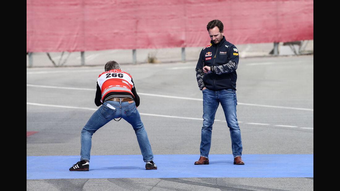 Christian Horner - Red Bull - Formel 1-Test - Barcelona - 24. Februar 2016