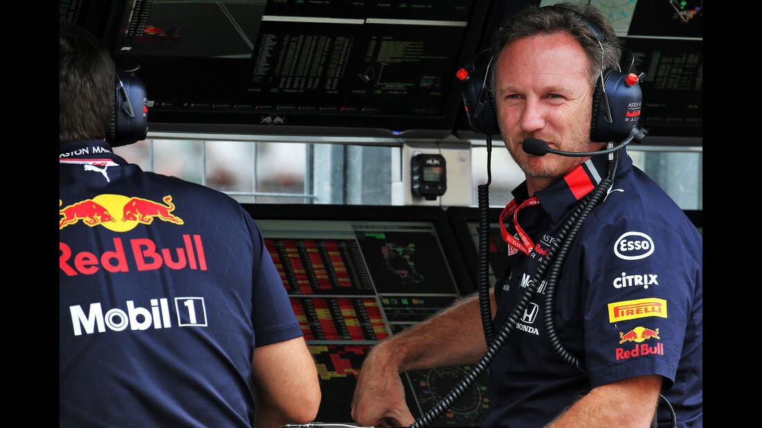 Christian Horner - Red Bull - GP Ungarn - Budapest - Formel 1 - Freitag - 2.8.2019