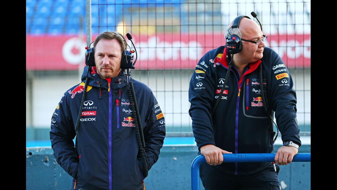 Christian Horner & Rob Marshall - Red Bull - Formel 1-Test - Jerez - 2. Februar 2015