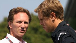 Christian Horner & Sebastian Vettel