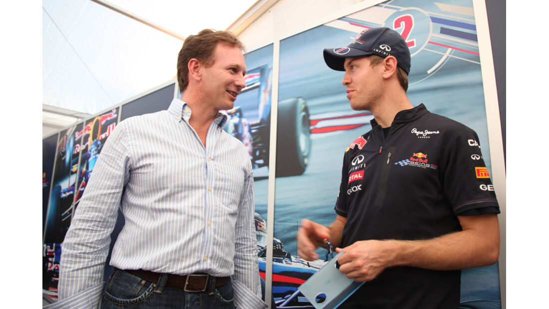Christian Horner & Sebastian Vettel - GP Japan - Suzuka - 6. Oktober 2011