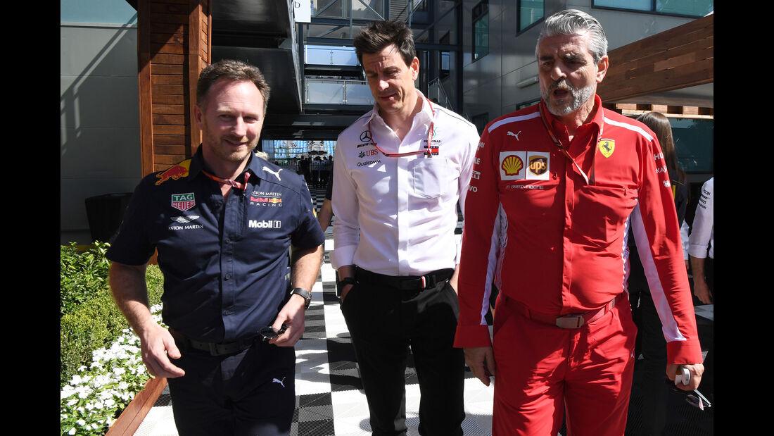 Christian Horner - Toto Wolff - Maurizio Arrivabene - GP Australien 2018 - Melbourne - Albert Park - Freitag - 23.3.2018