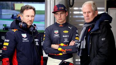 Christrian Horner, Max Verstappen & Helmut Marko - Red Bull - 2020
