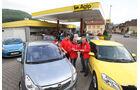 Citoen C3 Vti, Fiat Punto Evo 1.4 16 V, Ford Fiesta 1.4, Honda Jazz 1.4i, Mitsubishi Colt 1.3, Opel Corsa 1.4, Peugeot 207 Vti, Renault Clio Tce, Skoda Fabia 1.2 TSI, VW Polo 1.2 TSI