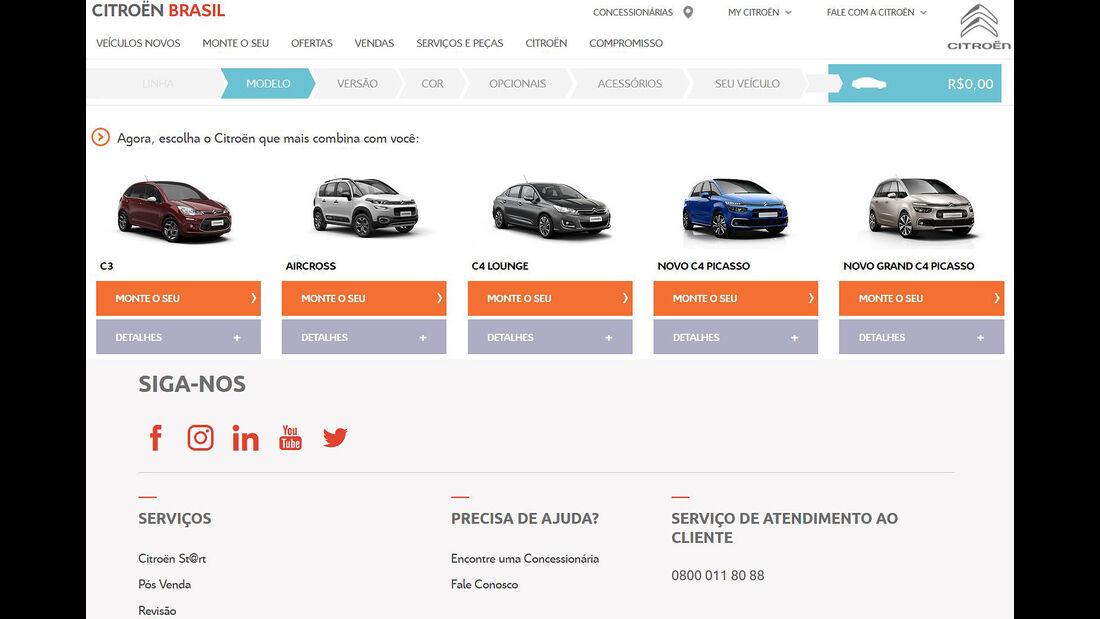 Citroën Autokauf Online Brasilien
