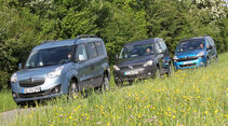 Citroën Berlingo, Opel Combo, VW Caddy, Frontansicht
