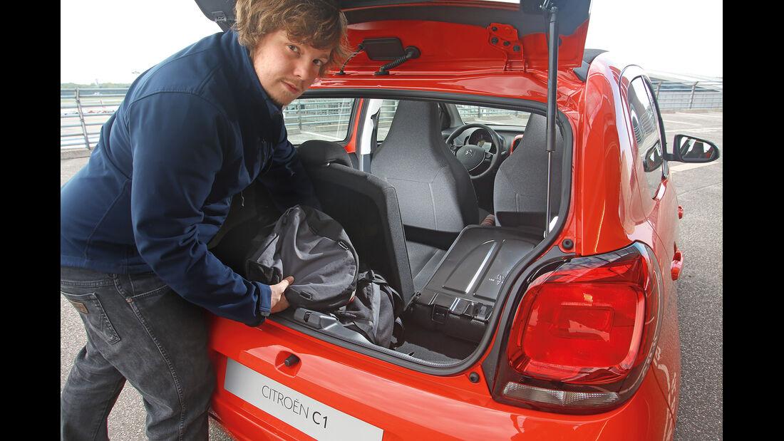 Citroën C1, Kofferraum