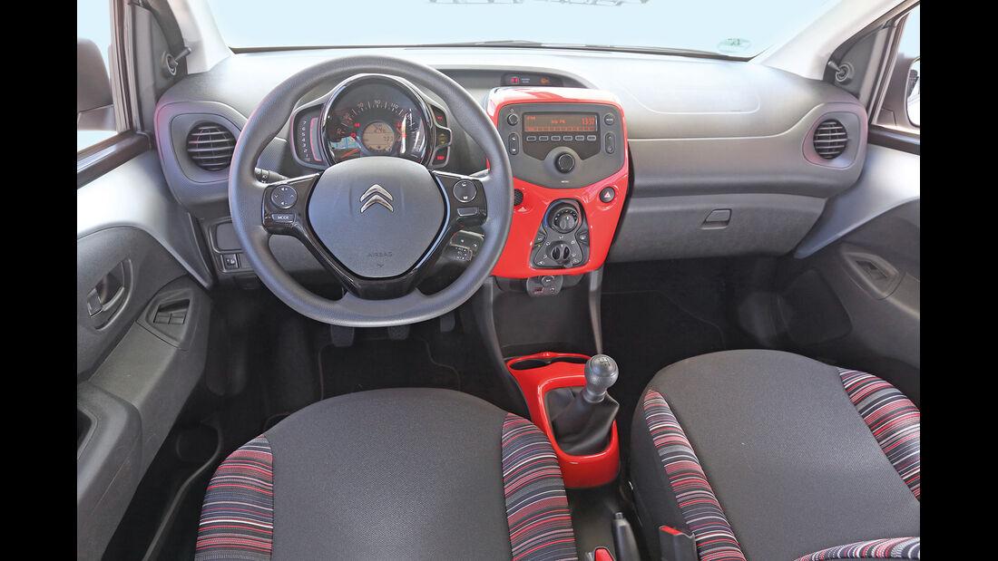 Citroën C1 VTI 68, Cockpit