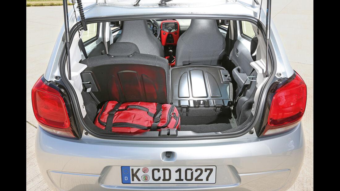 Citroën C1 VTI 68, Kofferraum