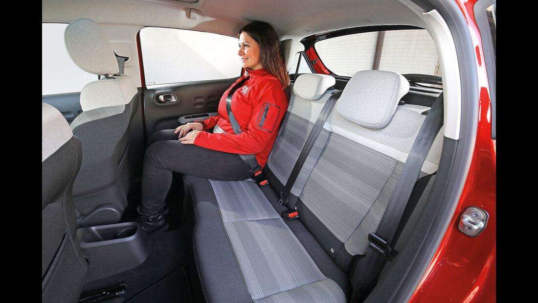 Citroën C3 BlueHDi 100, Fondsitze