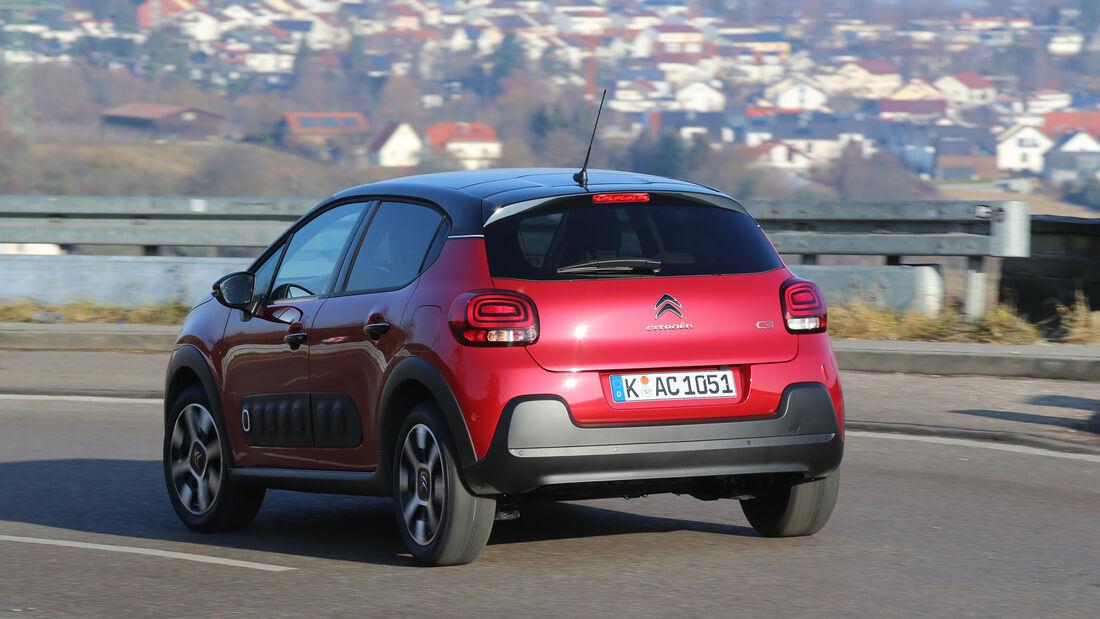 Citroën C3 BlueHDi 100, Heckansicht