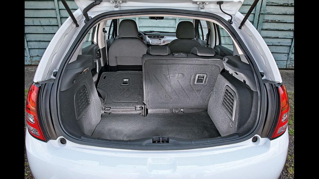 Citroën C3, Kofferraum