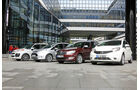 Citroën C3 Picasso, Ford B-Max, Nissan Note, Skoda Roomster, Frontansicht