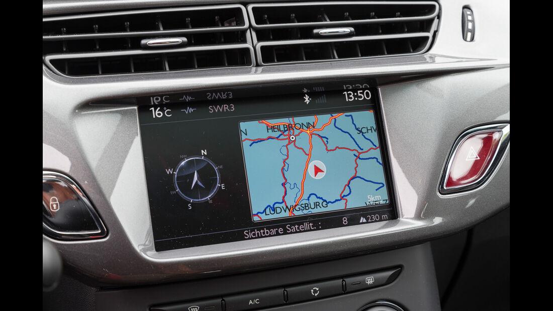 Citroën C3 VTi 82, Navi, Bildschirm
