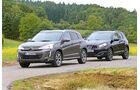 Citroën C4 Aircross 150 HDi AWD, Nissan Qashqai dCi 130, Seitenansicht