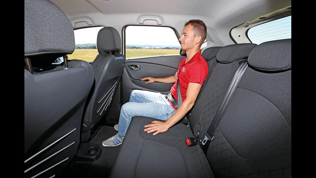 Citroën C4 Cactus Blue HDi 100, Fondsitz, Beinfreiheit