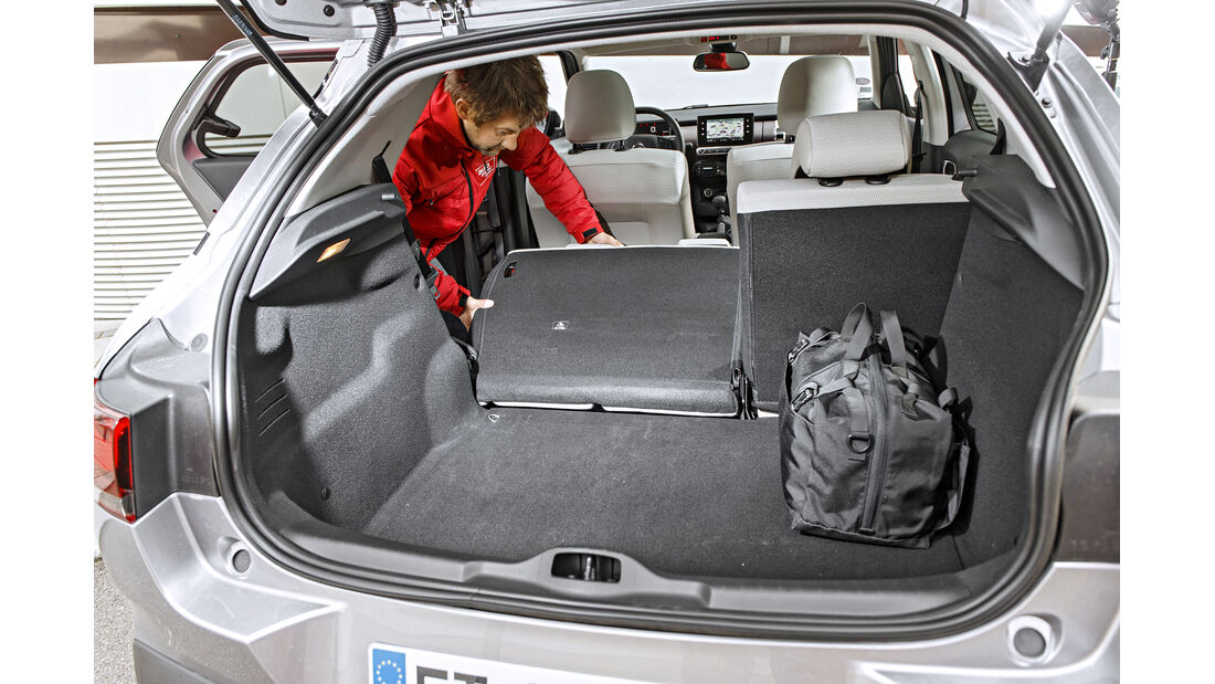 Citroën C4 Cactus, Kofferraum