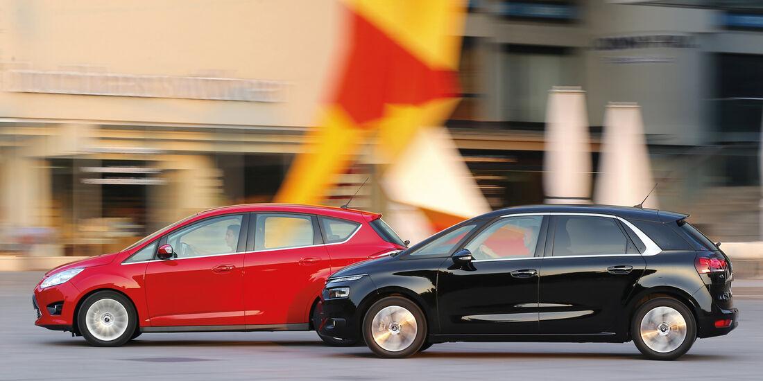 Citroën C4 Picasso E-HDi 115, Ford C-Max 1.6 TDCi, Seitenansicht