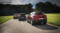 Citroën C5 Aircross Puretech, Mazda CX-30 G 2.0 M Hybrid, Opel Grandland X 1.2 DI Turbo, Exterieur