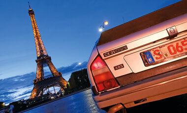 Citroën CX 25 GTI, Heckansicht, Eiffelturm