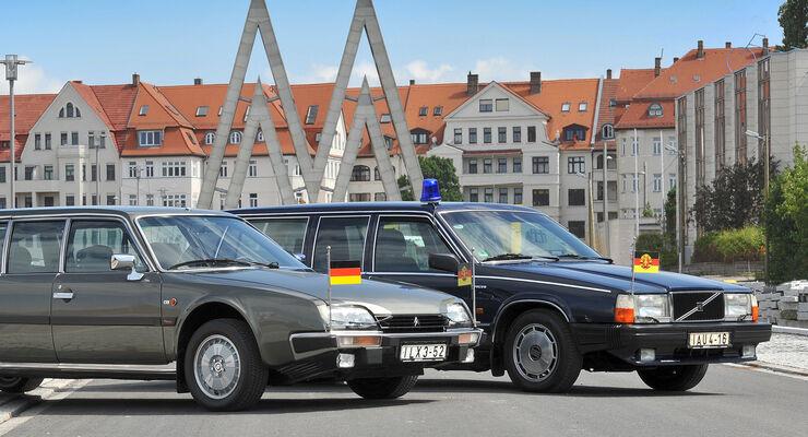 Citroën CX Prestige, Volvo 760 GLE, Front
