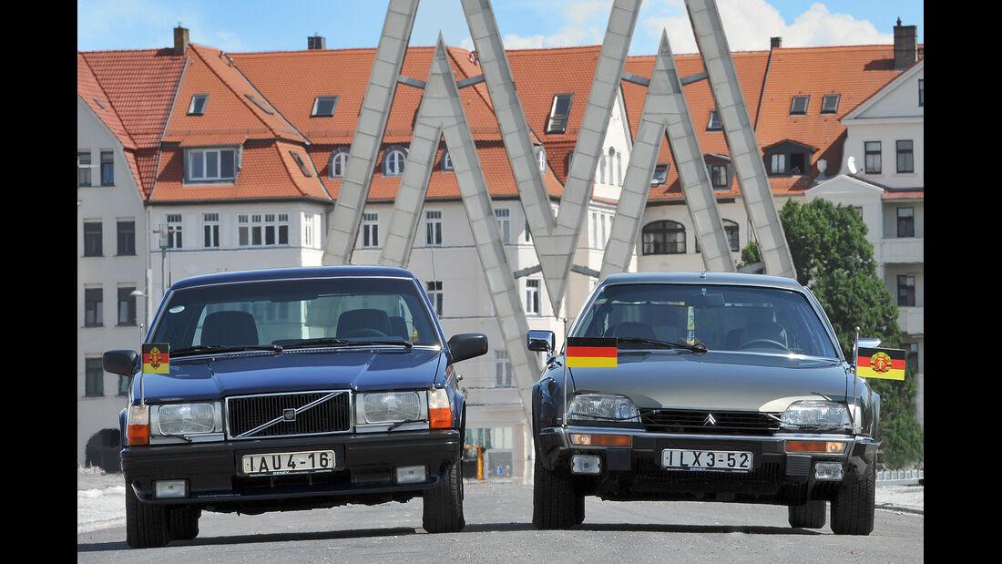 Citroën CX Prestige, Volvo 760 GLE, Frontansicht