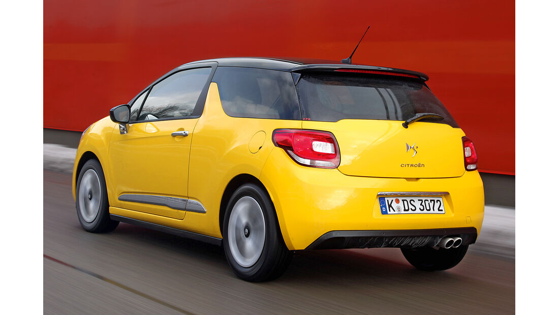 Citroën DS3, Heckansicht