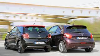 Citroën DS3 THP 155, Peugeot 208 XY 155 THP, Heckansicht