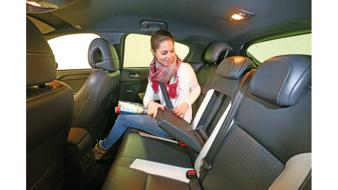 Citroën DS4, Rücksitz, Beinfrteiheit