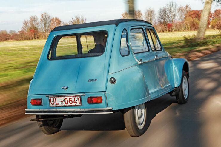 Citroën Dyane, Heckansicht