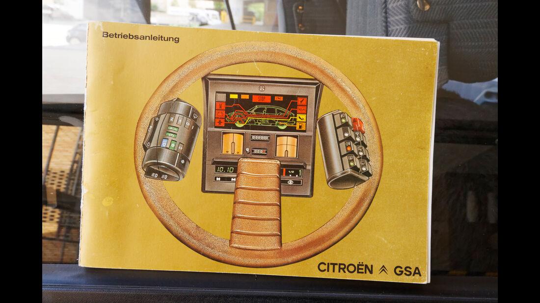 Citroën GS/GSA, Betriebsanleitung