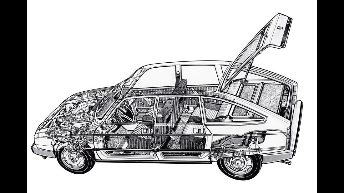 Citroën GS/GSA, Durchsicht