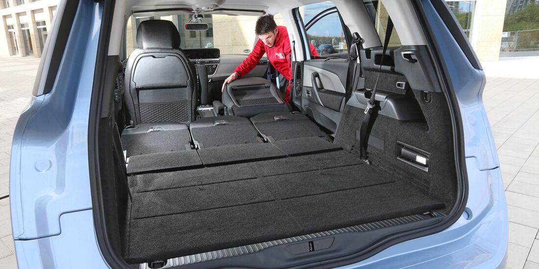 Citroën Grand C4 Picasso e-HDi 115, Kofferraum, Ladefläche