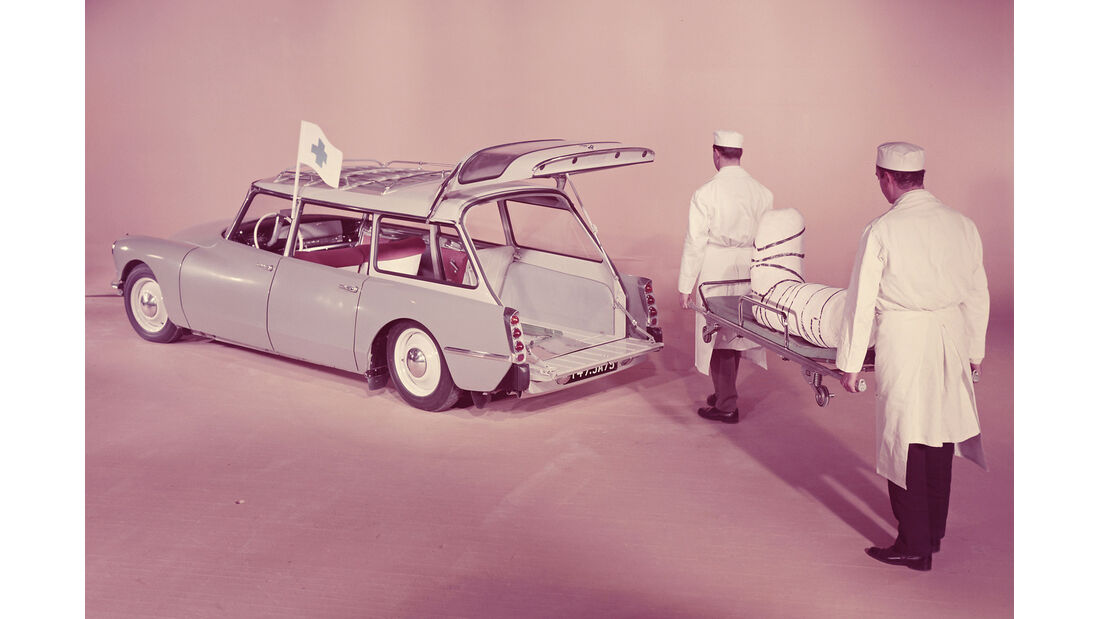Citroën ID19F Break, Werbefoto, Krankenwagen
