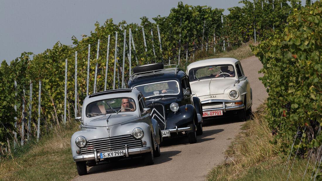 Citroen-11-CV-Peugeot-203-Simca-Aronde-im-Fahrbericht