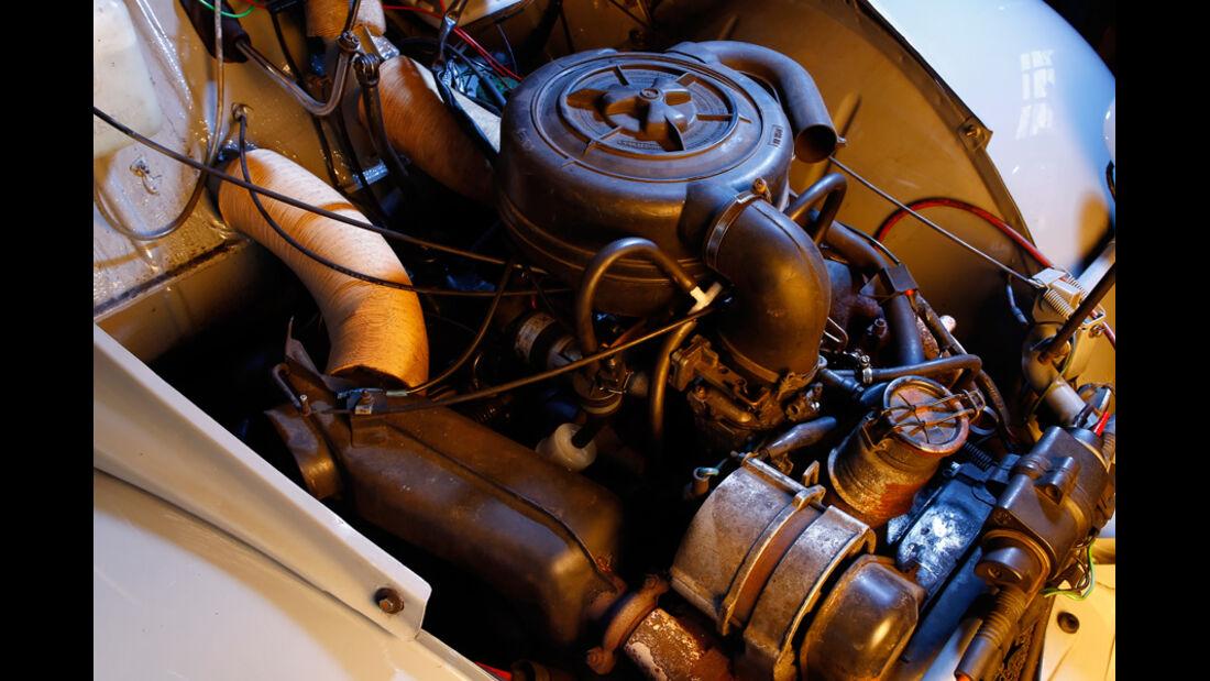 Citroen 2CV, Motor, Motorraum