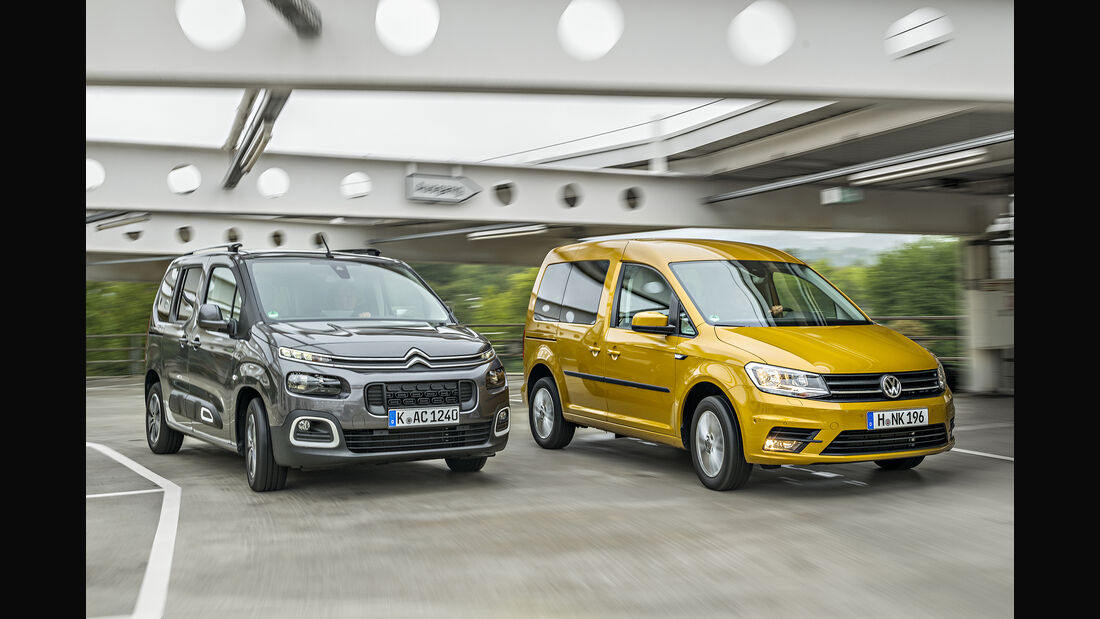 Citroen Berlingo PureTech 110 Shine, VW Caddy 1.0 TSI Trendline, Exterieur