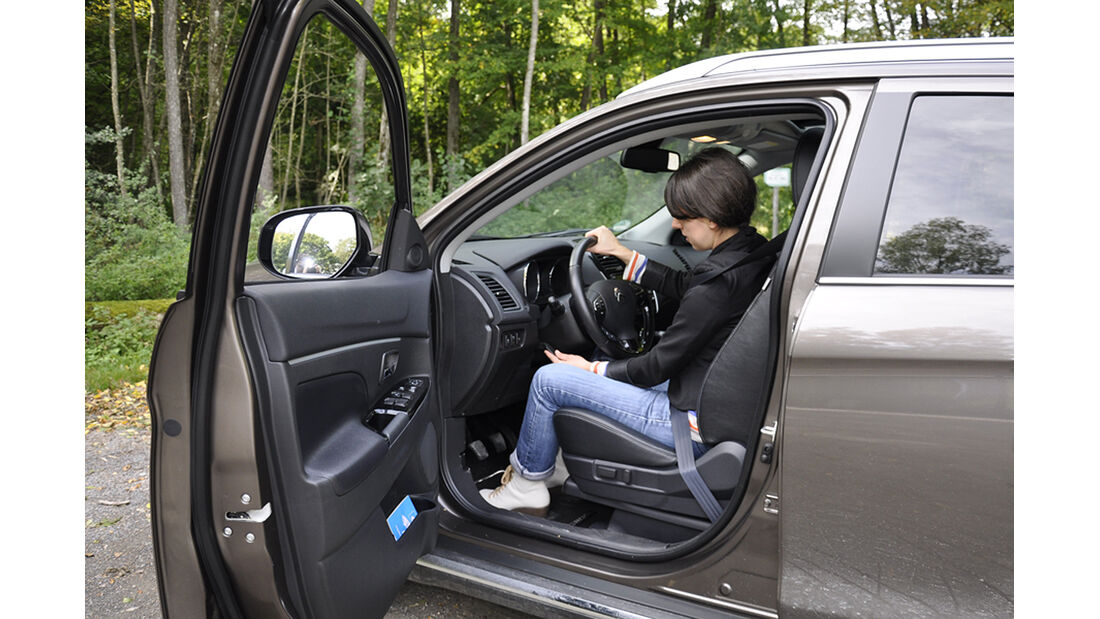 Citroen C4 Aircross, Innenraum-Check, Sitzposition