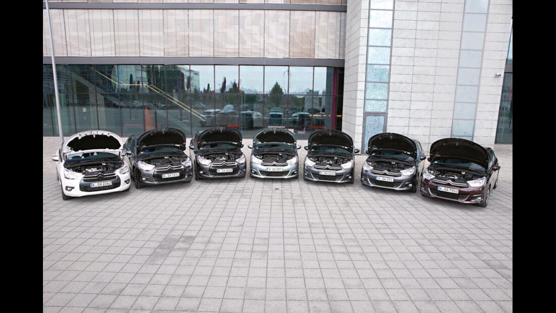 Citroen C4, Citroen DS4, verschiedene Fahrzeuge