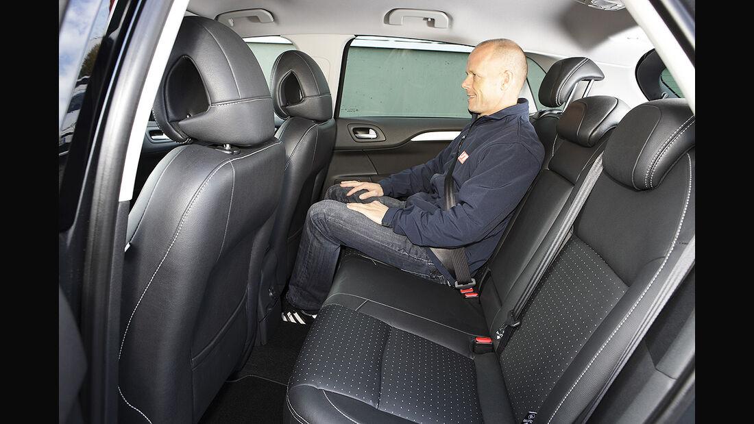 Citroen C4, Rücksitze